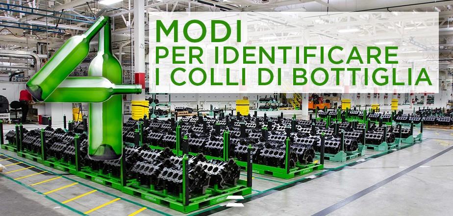 4 Modi per identificare i colli di bottiglia in produzione - bottlenecks