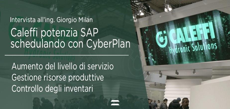 Caleffi potenzia SAP schedulando la produzione con CyberPlan